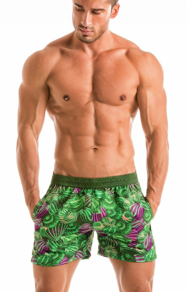 Geronimo Men's Green Swimming  Shorts 1903p1